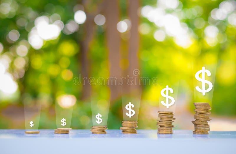 Monedas del dinero del dólar fotos de archivo libres de regalías