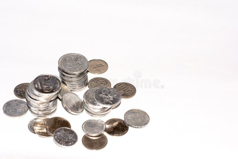 monedas del dinero del rupia fotos de archivo libres de regalías
