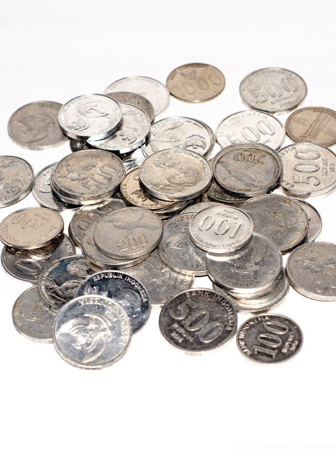 monedas del dinero del rupia imagenes de archivo