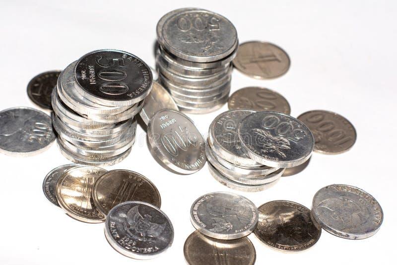 monedas del dinero del rupia fotos de archivo