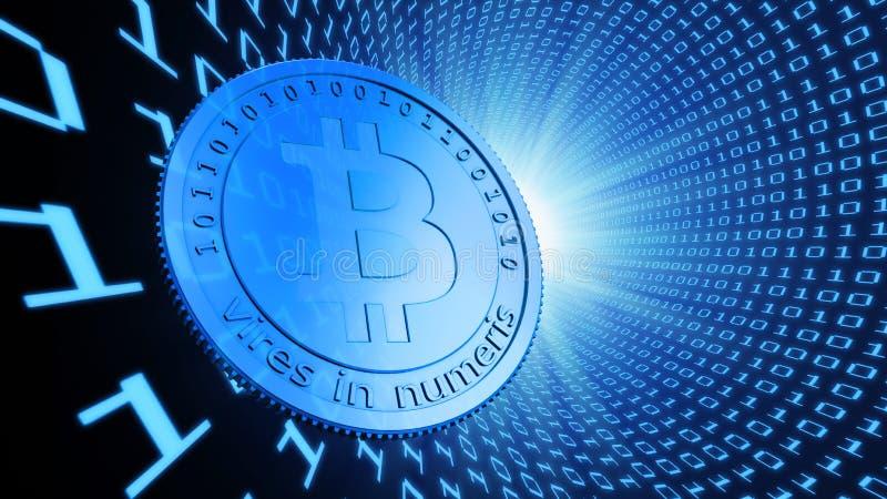 Monedas del pedazo, la moneda virtual ilustración del vector