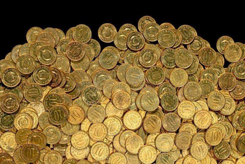 Monedas diez fotografía de archivo