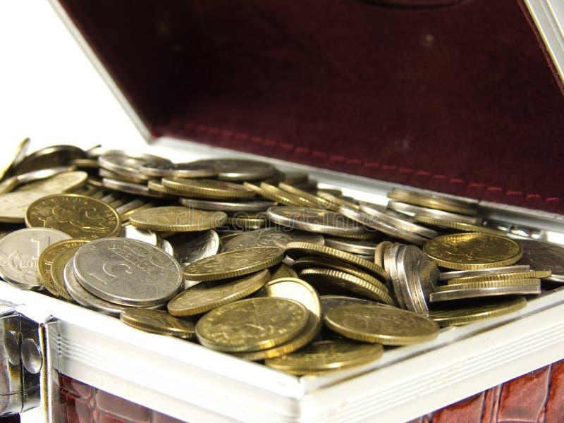 Monedas en rectángulo fotos de archivo