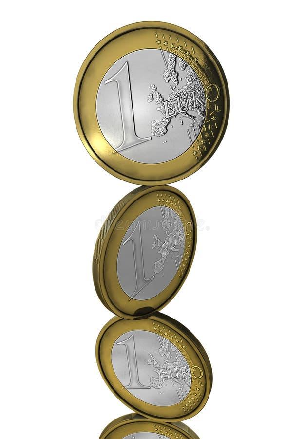 Monedas euro de equilibrio libre illustration
