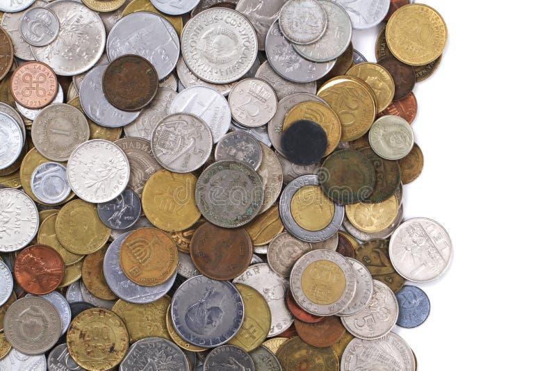Monedas europeas viejas imágenes de archivo libres de regalías