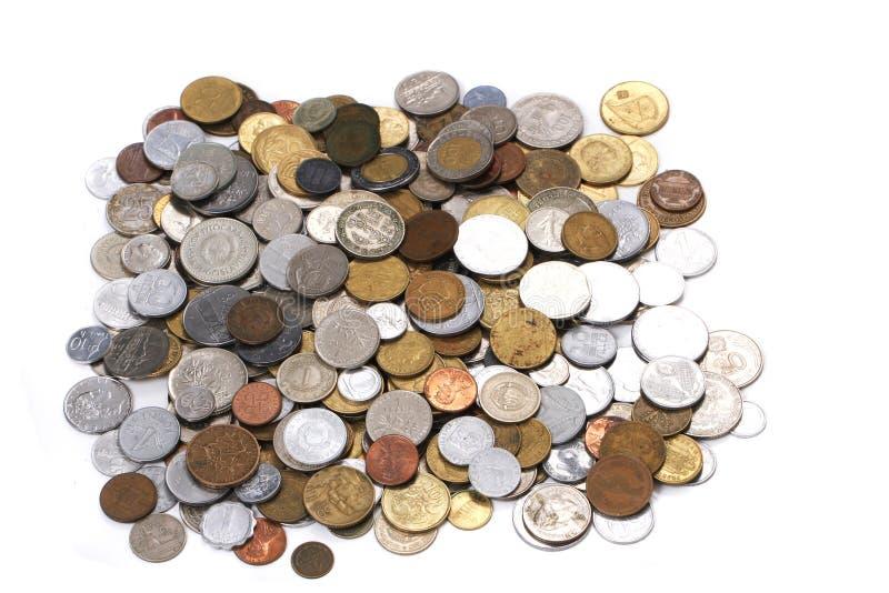 Monedas europeas viejas fotografía de archivo libre de regalías