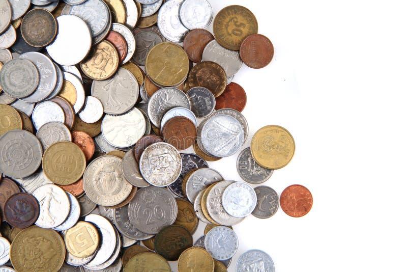 Monedas europeas viejas fotos de archivo