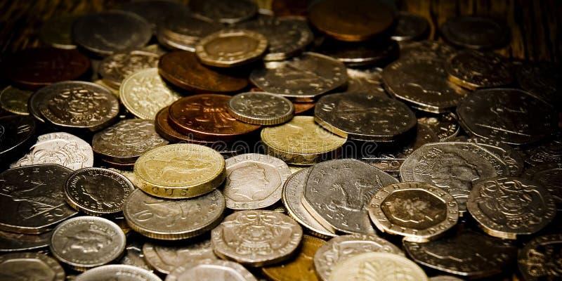 Monedas inglesas foto de archivo