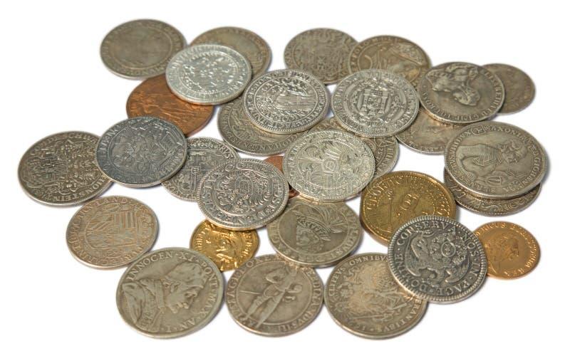 Monedas medievales fotos de archivo
