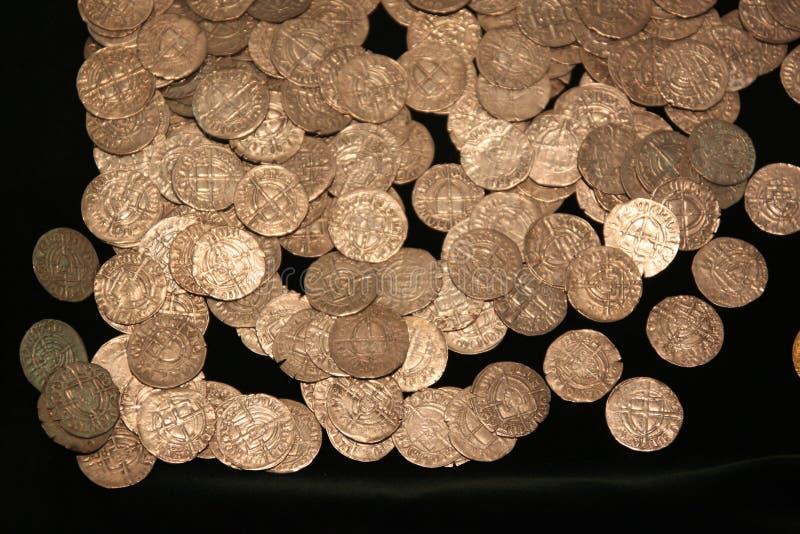 Monedas medievales imagen de archivo