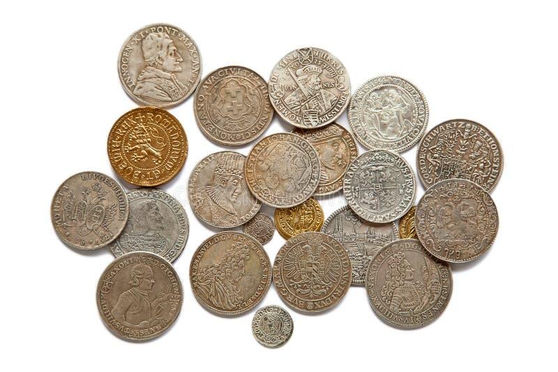 Monedas medievales fotografía de archivo libre de regalías