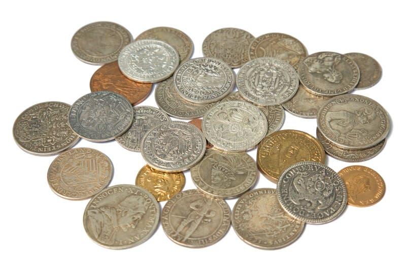 Monedas medievales imagen de archivo libre de regalías