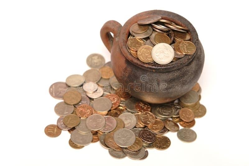 Monedas misteriosas foto de archivo libre de regalías