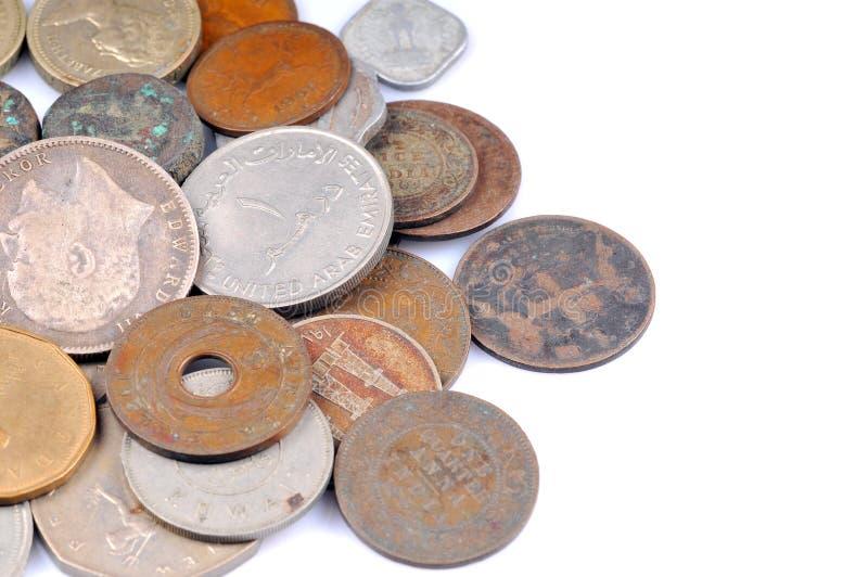 Monedas viejas de la vendimia imagen de archivo libre de regalías