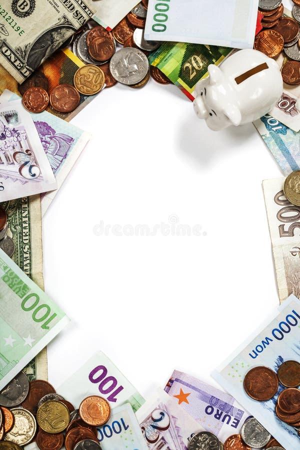 Monedas Y Marco Extranjeros De Los Billetes De Banco Imagen de ...