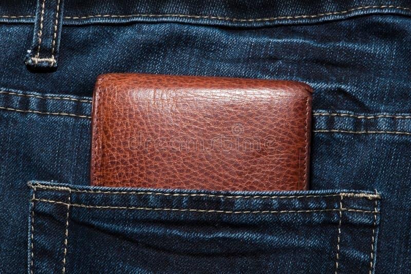 Monedero en el bolsillo foto de archivo libre de regalías