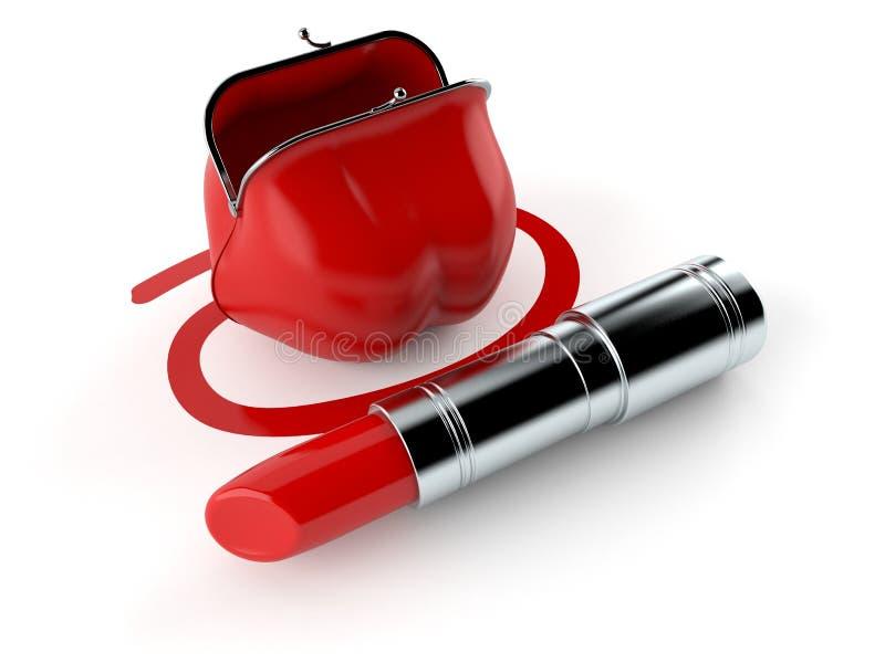 Monedero seleccionado con la barra de labios libre illustration