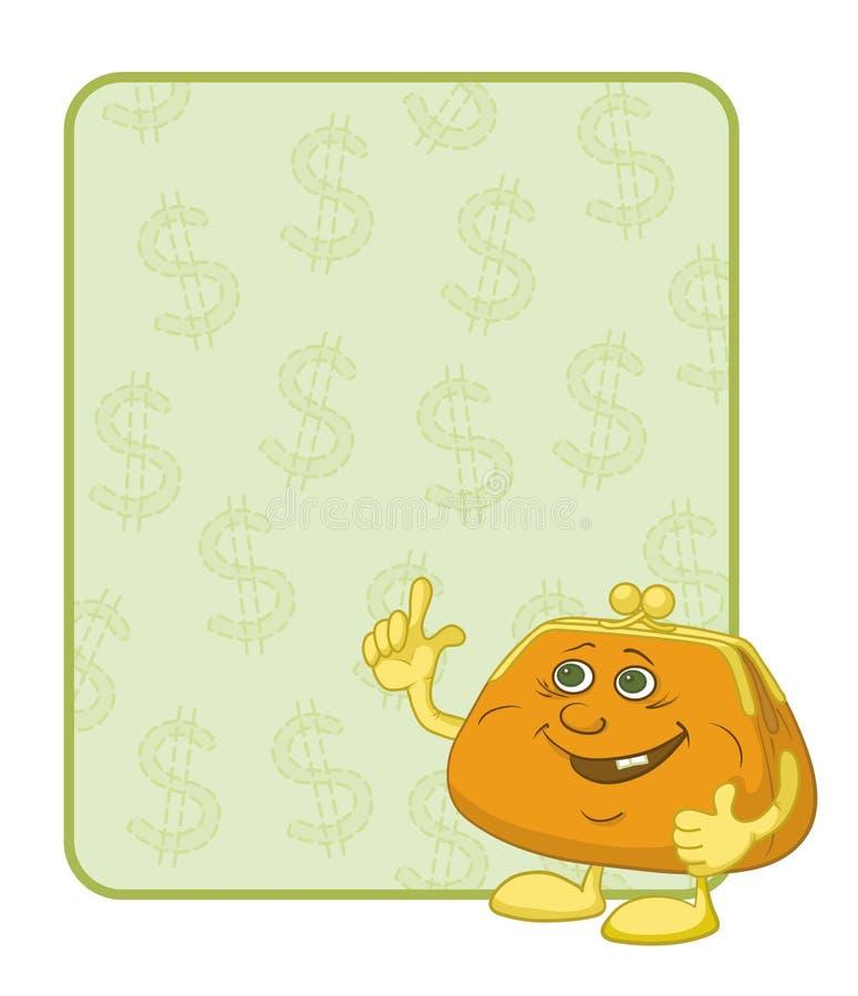 Monedero y cartel con los dólares libre illustration