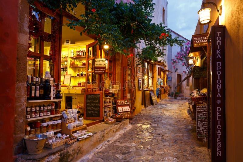 Monemvasia en Grecia fotos de archivo