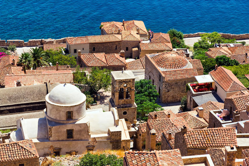 Monemvasia Greece imagem de stock