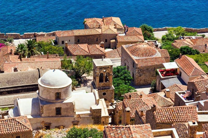 Monemvasia Griechenland stockbild