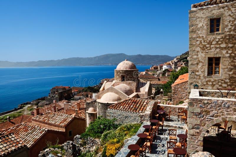 Monemvasia, Griekenland stock afbeelding