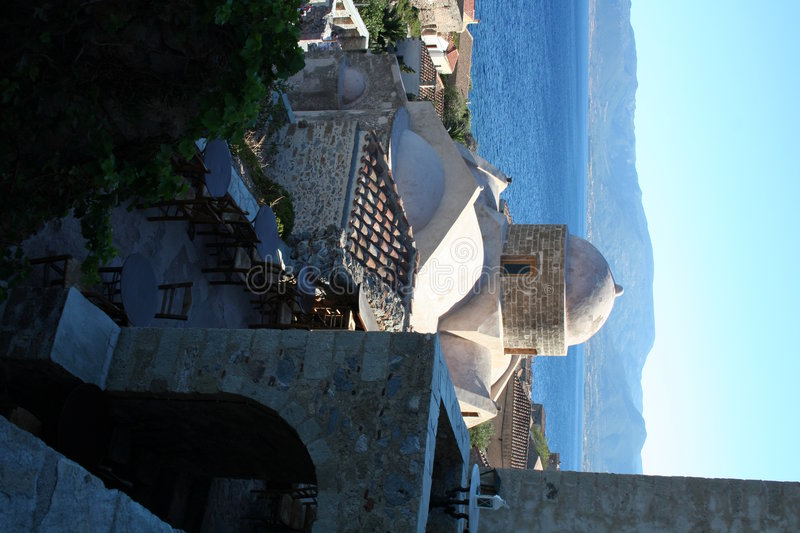 Monemvassia - peloponnese - greece royalty free stock photo