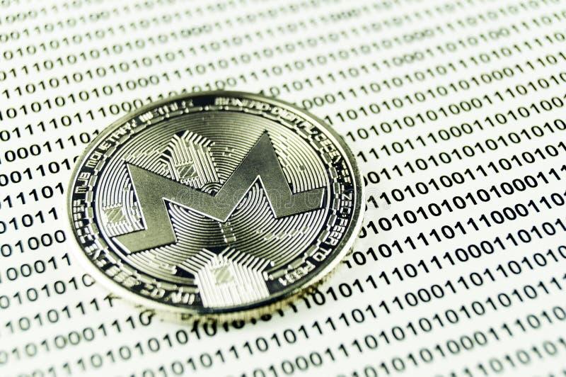 Monero è un modo moderno dello scambio e di questa valuta cripto immagine stock libera da diritti