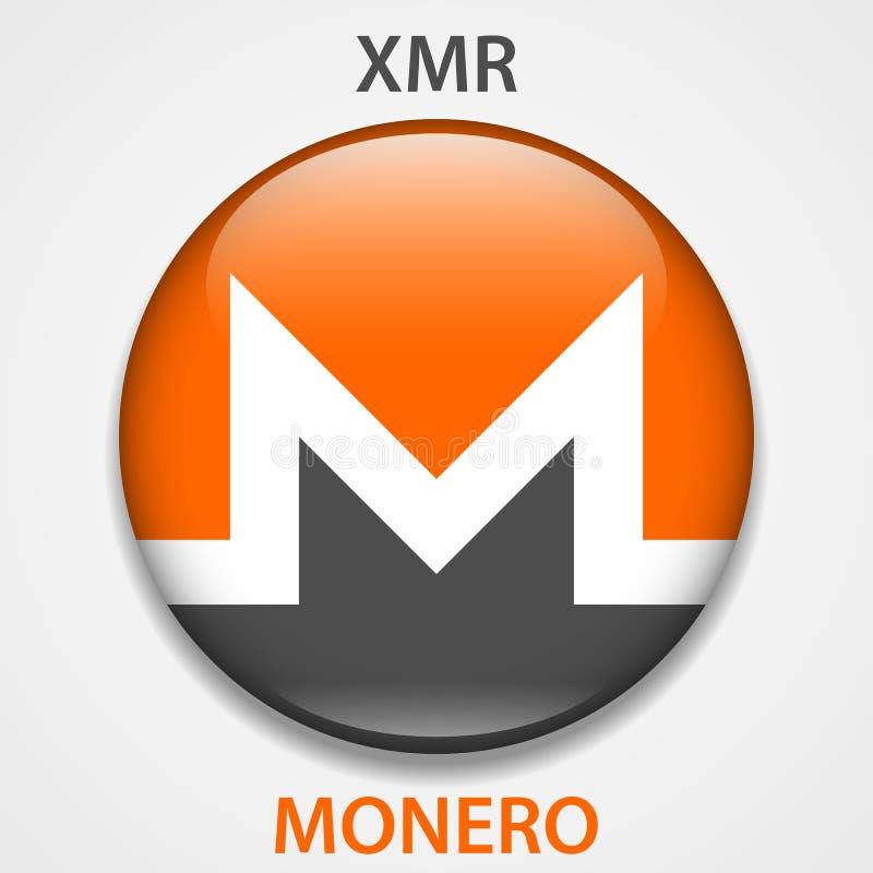 Monero-cryptocurrency blockchain Ikone Virtuelles elektronisches, Internet-Geld oder cryptocoin Symbol, Logo vektor abbildung