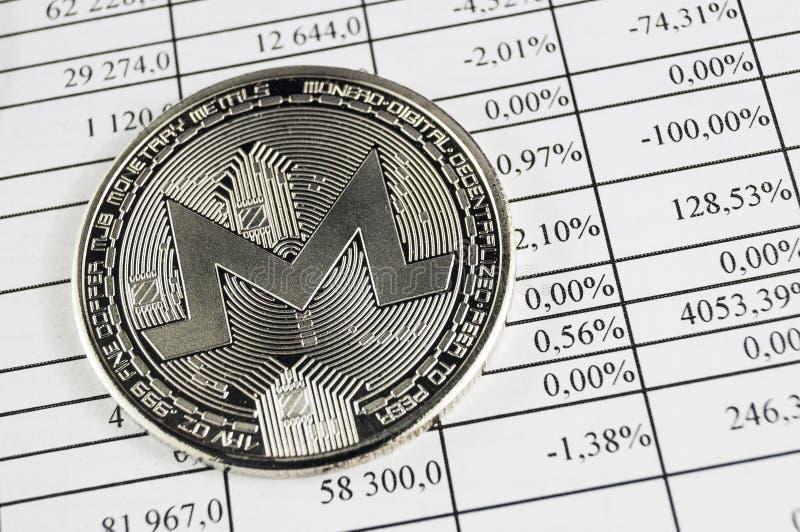 Monero is een moderne manier van uitwisseling en deze crypto munt royalty-vrije stock afbeelding