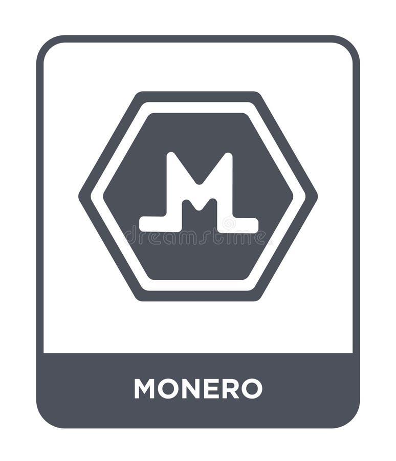 monero Ikone in der modischen Entwurfsart Monero-Ikone lokalisiert auf weißem Hintergrund einfaches und modernes flaches Symbol d lizenzfreie abbildung