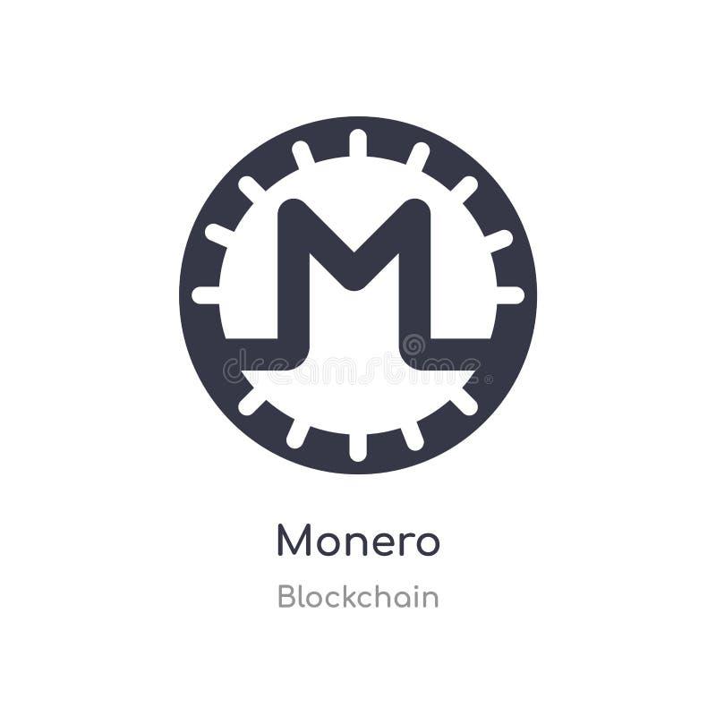 Monero-Ikone lokalisierte monero Ikonen-Vektorillustration von blockchain Sammlung editable singen Sie Symbol kann Gebrauch f?r W lizenzfreie abbildung