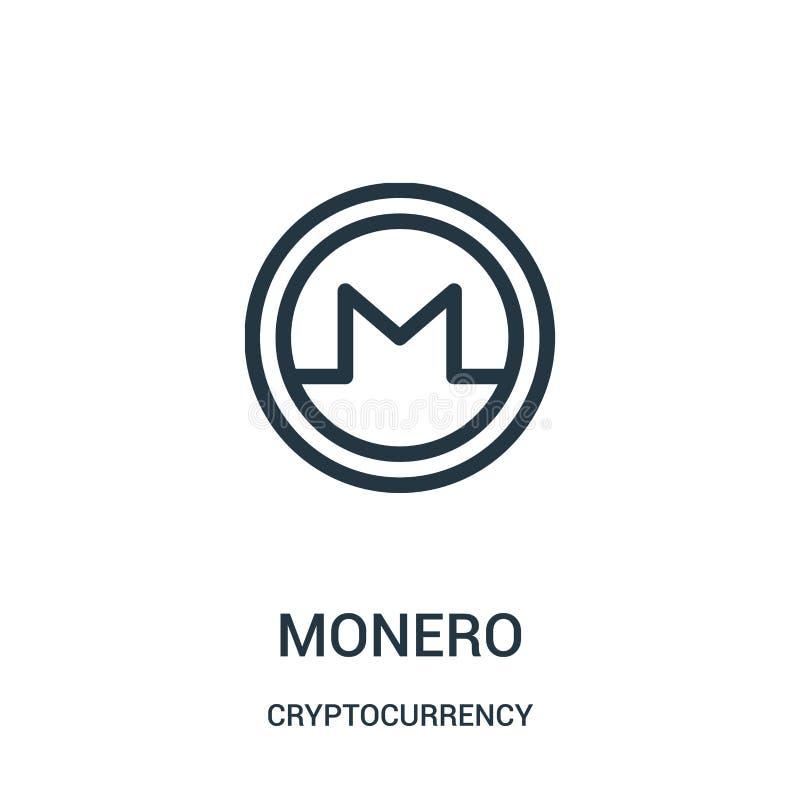 monero Ikonenvektor von cryptocurrency Sammlung Dünne Linie monero Entwurfsikonen-Vektorillustration stock abbildung