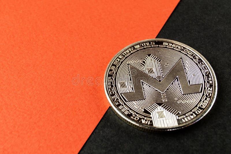 Monero MNR è un modo moderno dello scambio e questa valuta cripto è mezzi di pagamento convenienti nel finanziario fotografia stock libera da diritti