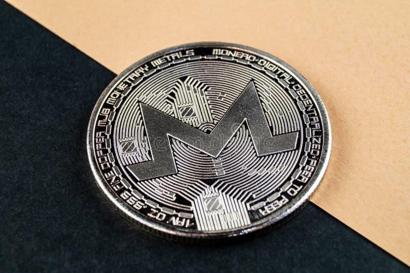Monero MNR es una manera moderna de intercambio y esta moneda crypto es los medios del pago convenientes en el financiero imagen de archivo libre de regalías