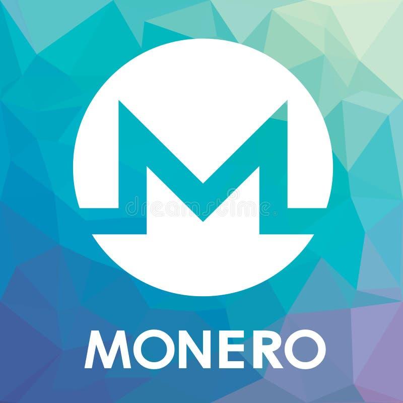 Monero XMR blockchain cripto currency vector logo royalty free illustration