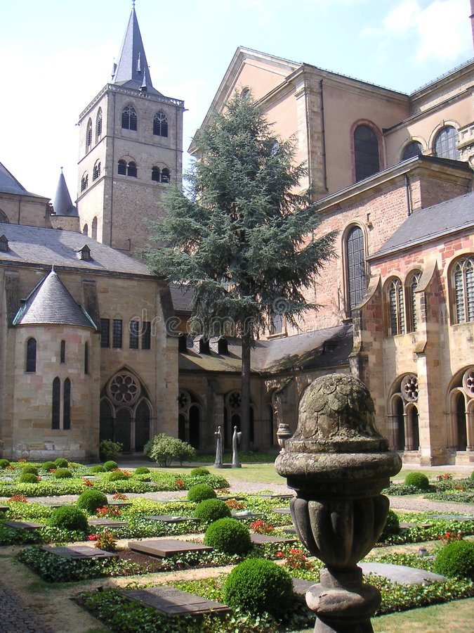 Download Monestary garden stock image. Image of germany, trier - 1092227
