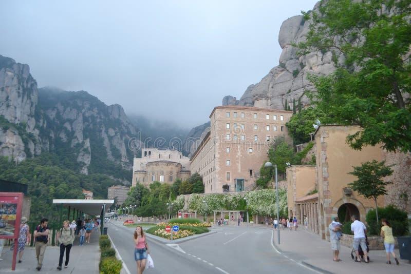 Monestir de Montserrat, Catalonia, Hiszpania. obrazy royalty free