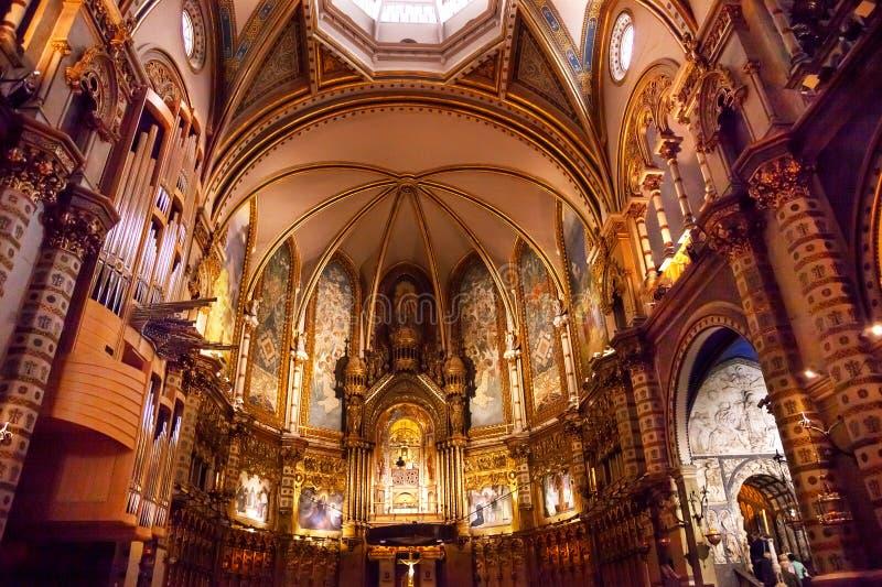 Monestir monaster Montserrat Catalonia, Hiszpania obraz royalty free