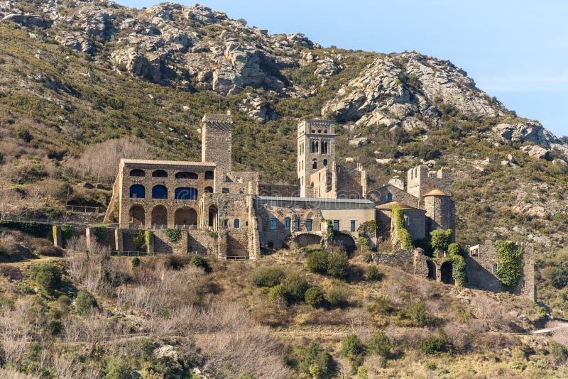 Monestir Sant Pere de Rodes imagem de stock