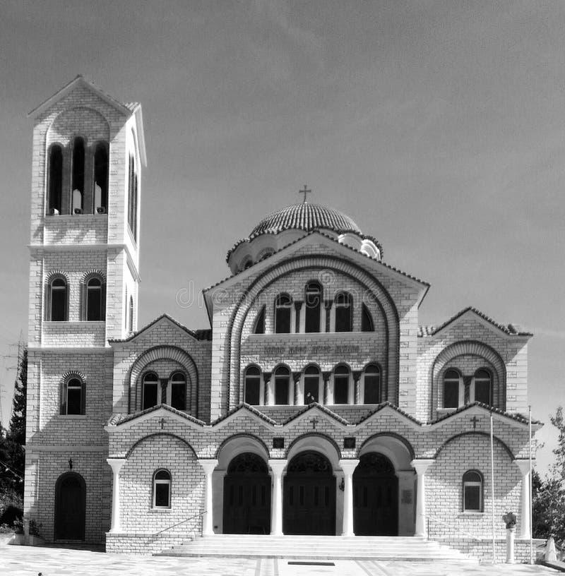 Monestory die zwarte & witte oude architectuur bouwen royalty-vrije stock afbeelding