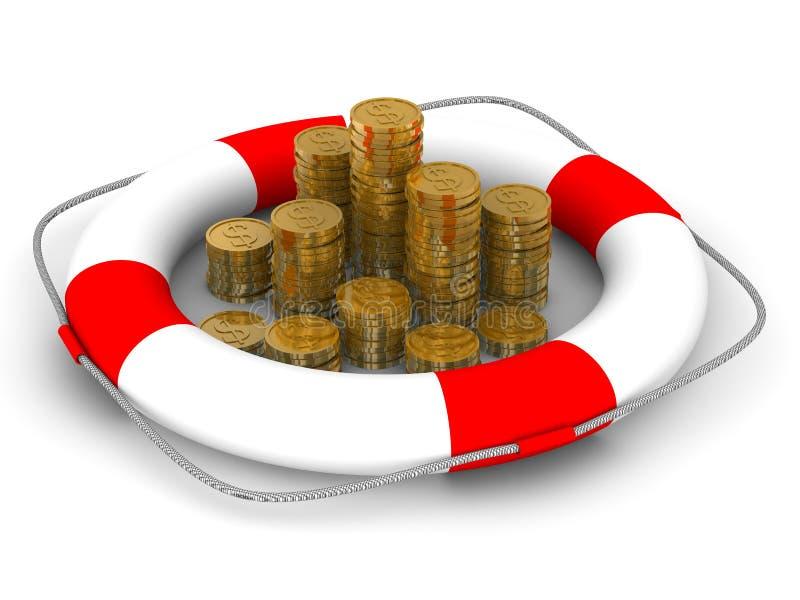 monetär bidragförsäkring vektor illustrationer