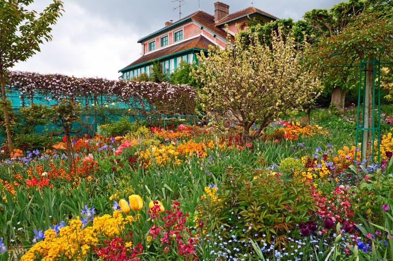 Monet`s garden royalty free stock photo