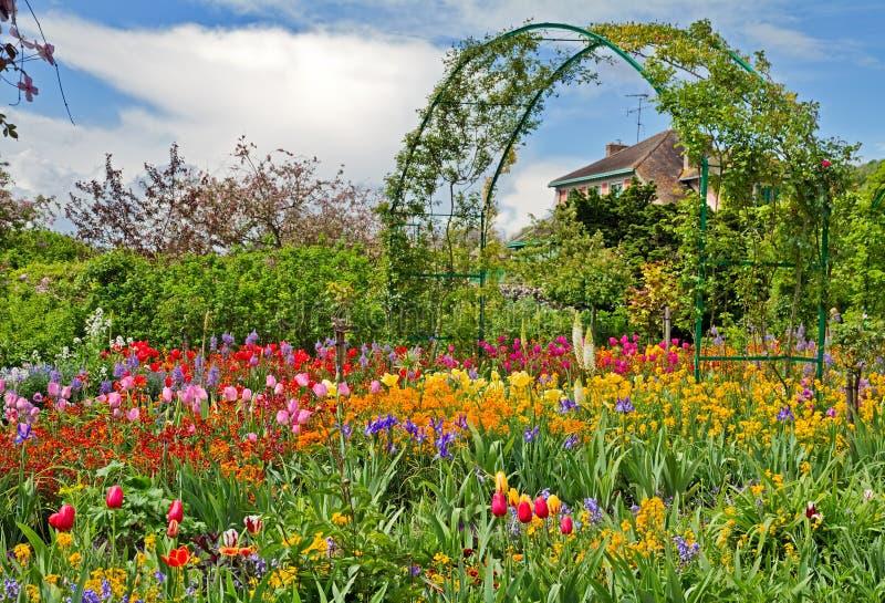 Monet`s garden royalty free stock photography