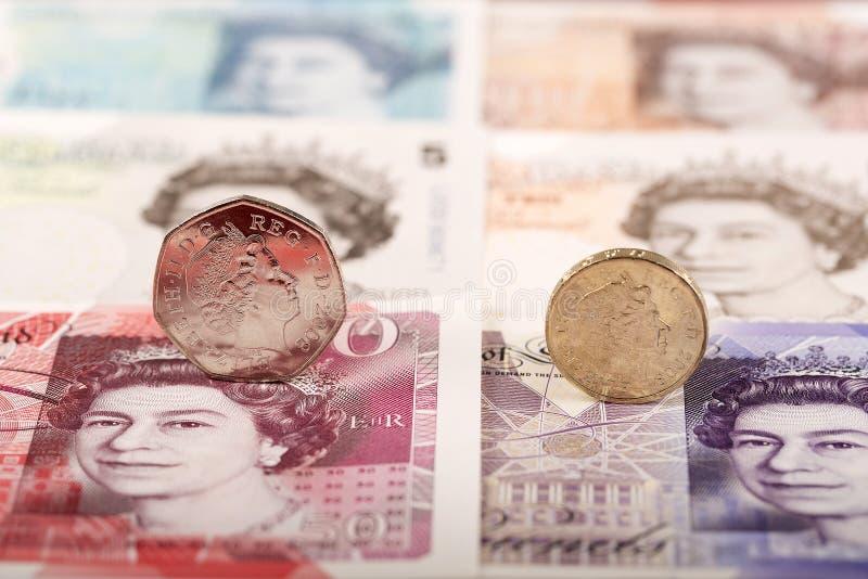 moneta anglików funta zdjęcia royalty free