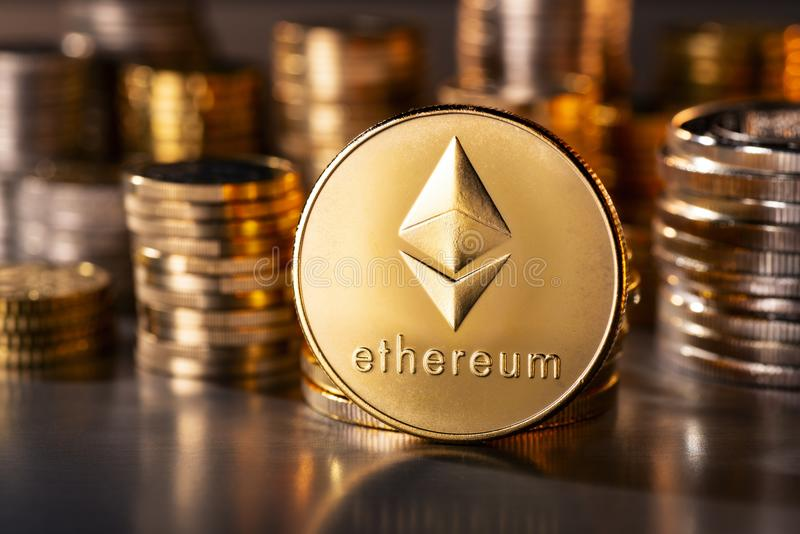 Moneta Cryptocurrency Ethereum zdjęcia royalty free