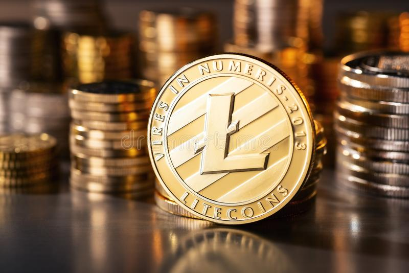 Moneta Cryptocurrency Litecoin zdjęcia stock