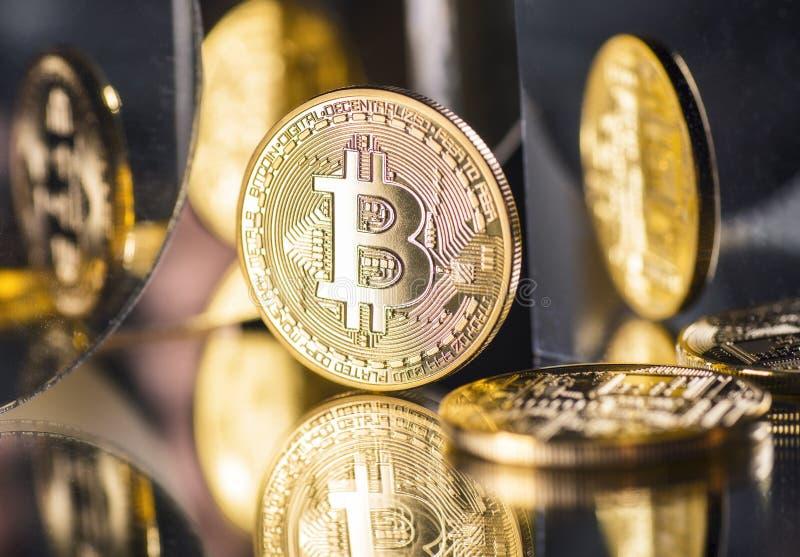 Moneta cyfrowa waluta Bitcoin zdjęcie royalty free