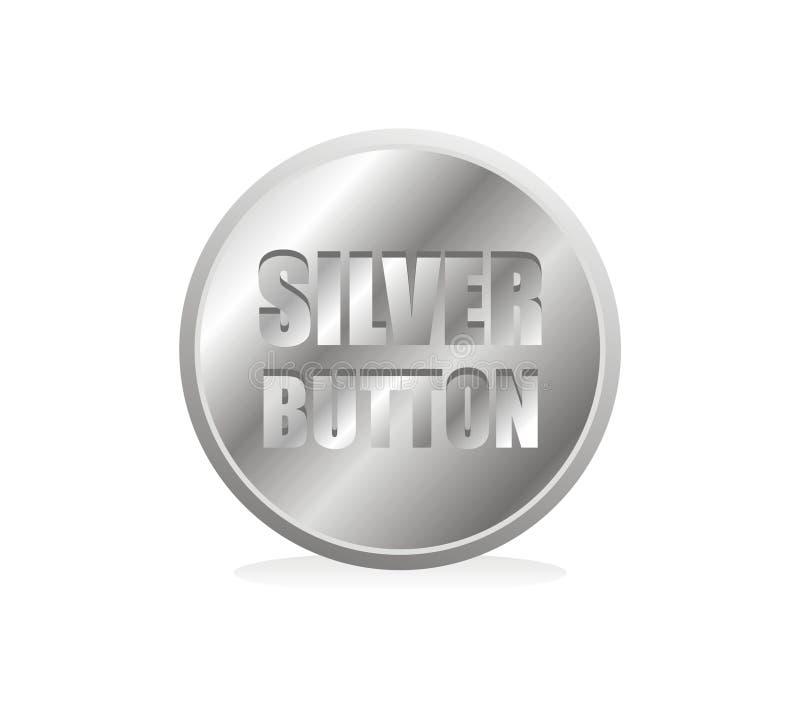 Moneta d'argento illustrazione di stock