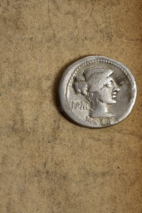 Moneta d'argento antica di denauius immagini stock libere da diritti